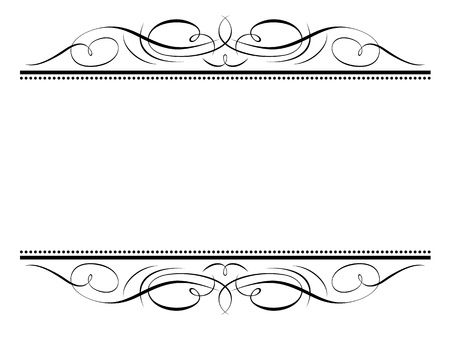 flourish frame: Vector calligraphy vignette ornamental penmanship decorative frame