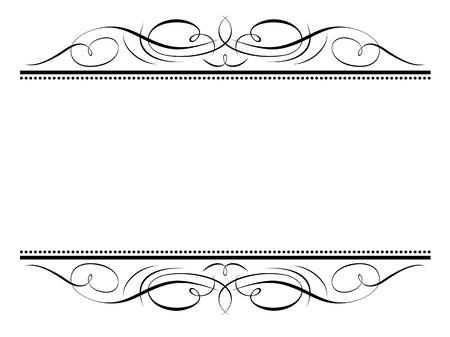 decorative line: Vector calligraphy vignette ornamental penmanship decorative frame