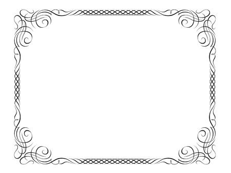 diploma: Vector caligraf�a caligraf�a ornamental deco marco de patr�n de