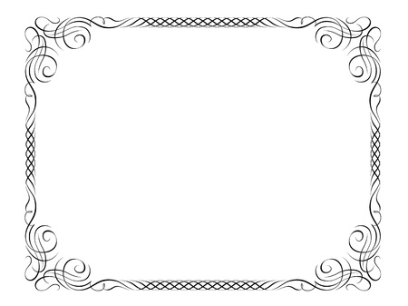 Vector calligraphy penmanship ornamental deco frame pattern Stock Vector - 12375400