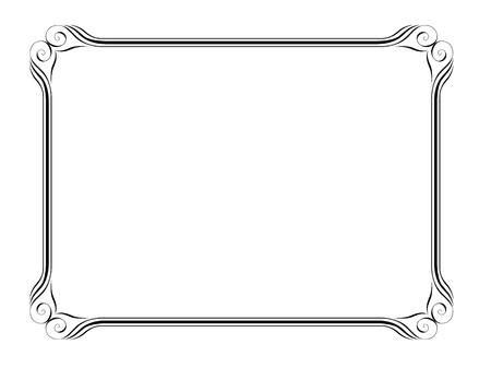 Vector einfache calligraph ornamentalen dekorativen Rahmen Muster Vektorgrafik