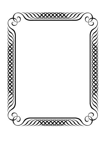 Vector simple calligraph ornamental decorative frame pattern Stock Vector - 12375397