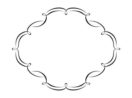 bordure vigne: Calligraphie calligraphie Vecteur motif ornemental cadre d�co
