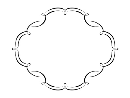 simple frame: Vector calligraphy penmanship ornamental deco frame pattern Illustration