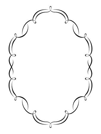 Vector calligraphy penmanship ornamental deco frame pattern Stock Vector - 12375358