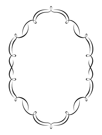 calligraph: Vector calligraphy penmanship ornamental deco frame pattern Illustration