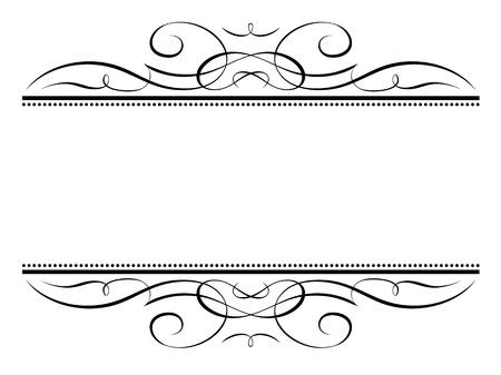 디자인: 벡터 서예 장식 무늬 장식 글씨 장식 프레임