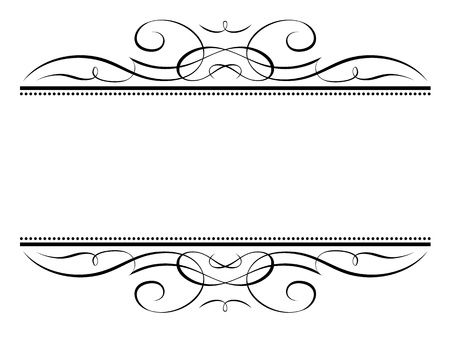 Vector calligraphy vignette ornamental penmanship decorative frame Vector