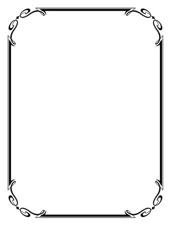 Vector eenvoudige calligraph sier decoratief kader patroon