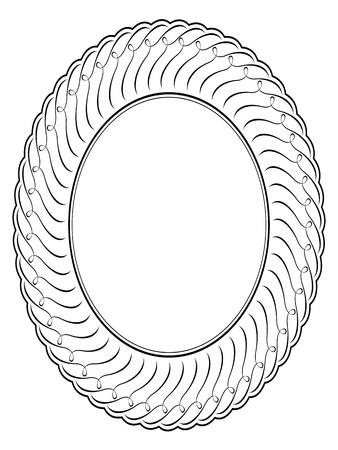Vector oval calligraphy ornamental penmanship decorative frame Vector