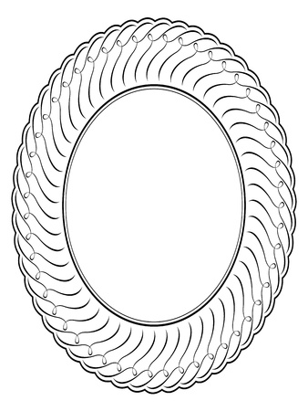 penmanship: Vector oval calligraphy ornamental penmanship decorative frame