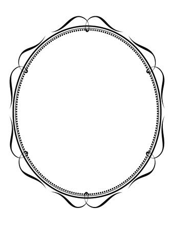 Ovale calligraphie calligraphie Vecteur cadre ornemental décoratif