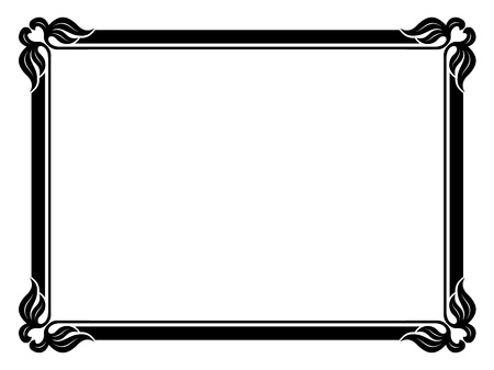 simple border: Vector simple calligraph ornamental decorative frame pattern