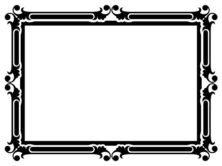 bookplate: Vector simple calligraph ornamental decorative frame pattern
