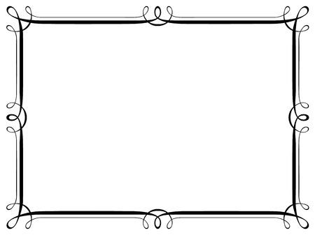 Vector calligraphy penmanship ornamental deco frame pattern Ilustracja