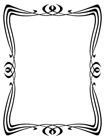 Vector art nouveau modern ornamental decorative frame Stock Vector - 12375364