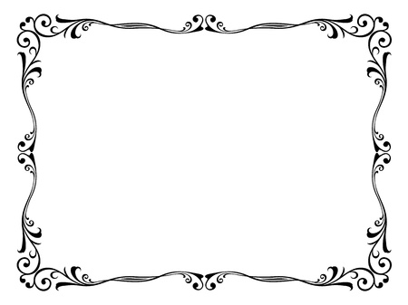 bookplate: Vector floral abstract ornamental decorative frame pattern