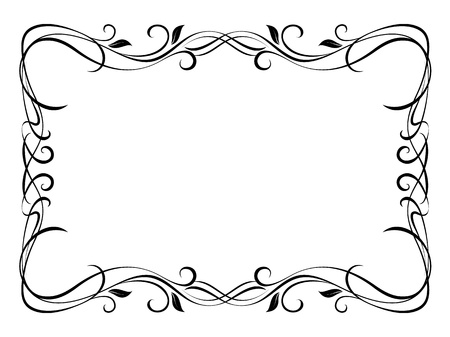 Vector floral abstract ornamental decorative frame pattern Stock Vector - 12375371