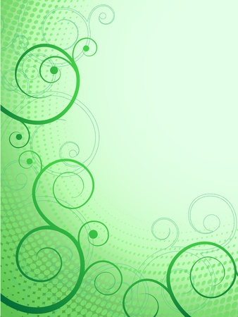 vector abstract floral pattern green swirl frame