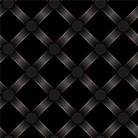 seamless antique black ribbon and gold strip pattern