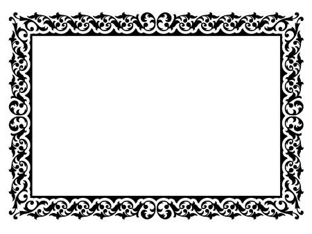 certificat diplome: Vecteur calligraphier simples d'ornement motif cadre d�coratif Illustration