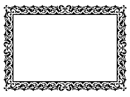 diplomas: Vector simple calligraph ornamental decorative frame pattern