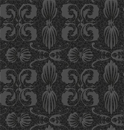 old style black and white seamless background pattern Vector