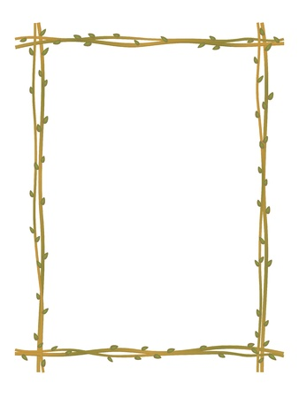 a sprig: vector twig sprig frame pattern background isolated