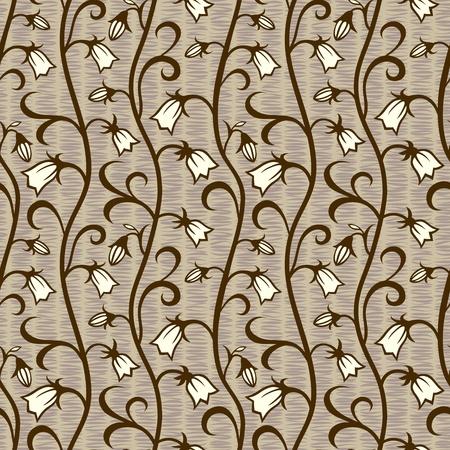 vector bells flowers seamless background pattern wallpaper Stock Vector - 12375445