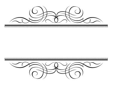 Vector calligrafia vignette ornamentali cornice decorativa penmanship