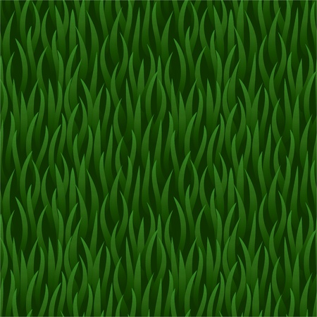 vector green grass field seamless background pattern Illustration