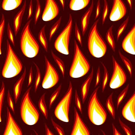 vector red flame abstract seamless background wallpaper Stock Vector - 12375437