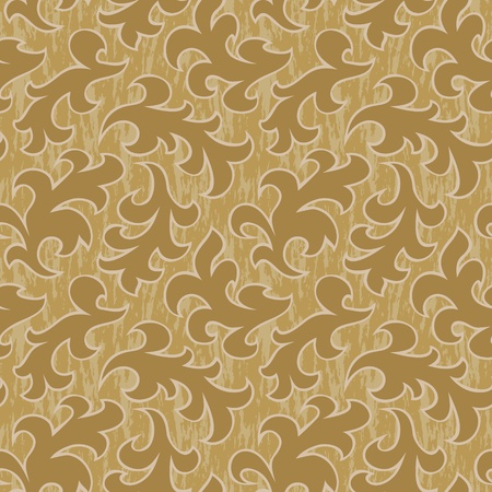 retro styled imagery: vector floral abstract seamless background pattern wallpaper Illustration
