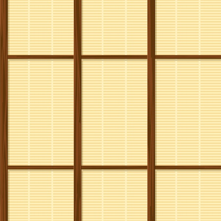 folding screens: seamless japan paper frame house wall texture Illustration