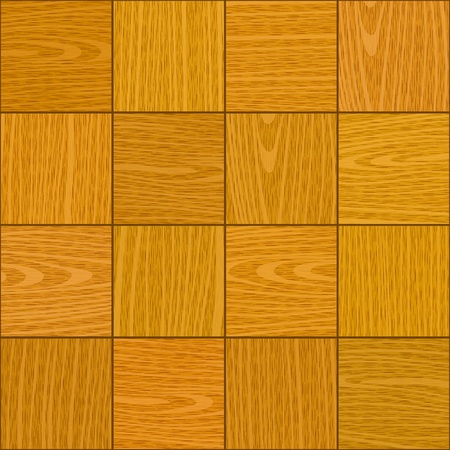 seamless light oak square parquet panel wall texture Vector