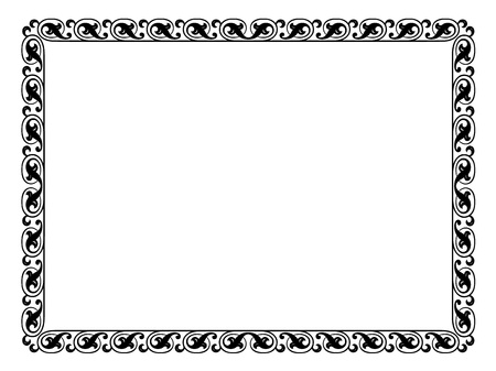 simple calligraph ornamental decorative frame pattern Stock Vector - 12494762