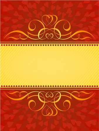 valentine heart calligraphy decorative background pattern Vector