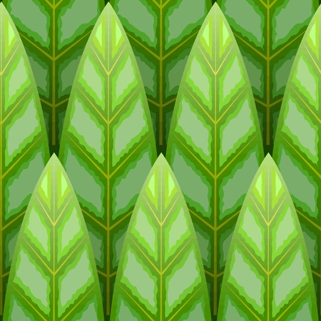 green  leaf wood row seamless background Vector