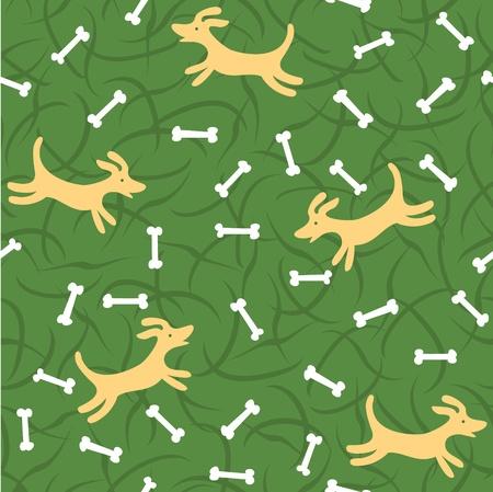 beagle puppy: perros afortunados con los huesos de fondo sin fisuras