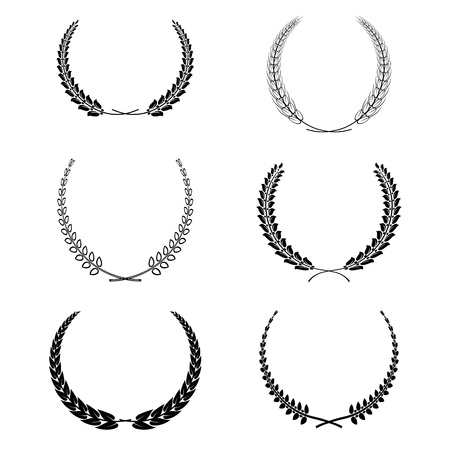 set of wreath garland isolated on white Vector