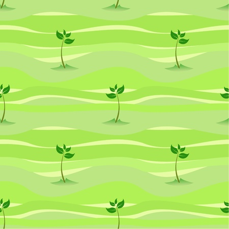 cultivated land: green spring sprout shoot seamless background