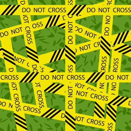csi: DO NOT CROSS inscription tape ribbon seamless background Illustration