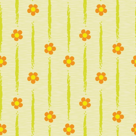 textile image: abstract orange flowers seamless background pattern