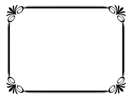 eenvoudige calligraph sier decoratief kader patroon