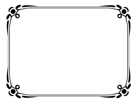 diploma border: art nouveau modern ornamental decorative frame