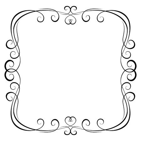 ozdobně: kaligrafie kaligrafie okrasných dekou rám vzor Ilustrace