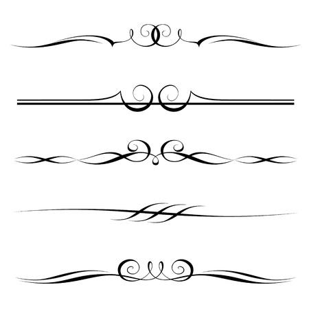ルール フレームの装飾的な要素、罫線、およびページの設定  イラスト・ベクター素材