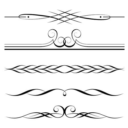 bordure de page: ensemble d'�l�ments d�coratifs, des fronti�res et la page des r�gles de cadre