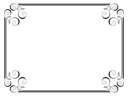 calligraphy penmanship ornamental deco frame pattern Vector