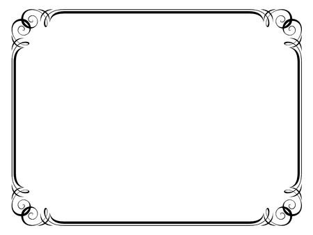 certificado: caligraf�a, la caligraf�a ornamental deco marco de patr�n de